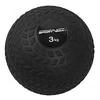 Слэмбол (медицинский мяч) для кроссфита SportVida Slam Ball 3 кг SV-HK0345 Black