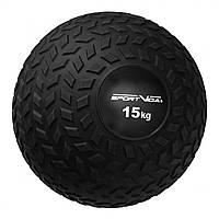 Слэмбол (медицинский мяч) для кроссфита SportVida Slam Ball 15 кг SV-HK0369 Black