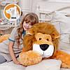 Плюшевый лев Симба лежащий, длина 110 см, фото 3