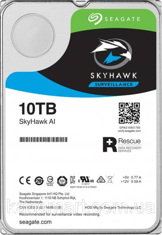 HDD SATA 10.0 TB Seagate SkyHawk Al Surveillance 256MB (ST10000VE0008)
