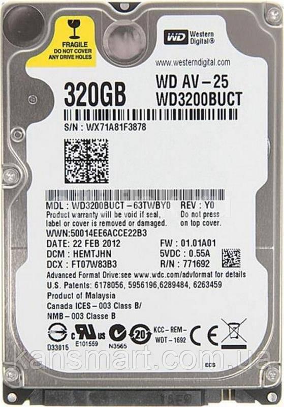 "HDD 2.5"" SATA  320GB WD Blue 5400rpm 16MB (WD3200LUCT) Refurbished"