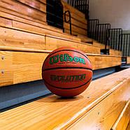 Мяч баскетбольный WILSON Evolution Game Basketball оригинал  Size 6, 28.5 композитная кожа, фото 4