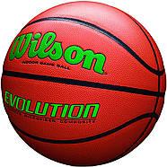 Мяч баскетбольный WILSON Evolution Game Basketball оригинал  Size 6, 28.5 композитная кожа, фото 6