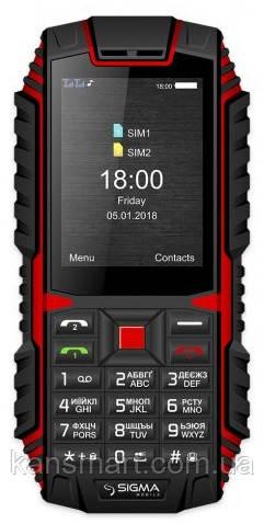 Мобільний телефон Sigma mobile Х-treme DT68 Dual Sim Black/Red (4827798337721)