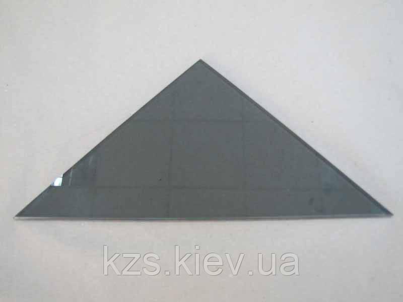 Полка треугольная из стекла графит толщиной 6 мм. 350х350мм