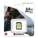 SDXC 64GB UHS-I Class 10 Kingston Canvas Select Plus R100MB/s (SDS2/64GB), фото 3