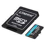 MicroSDXC 128GB UHS-I/U3 Class 10 Kingston Canvas Go! Plus R170/W90MB/s + SD адаптер (SDCG3/128GB), фото 2