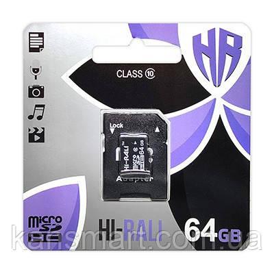MicroSDXC  64GB Class 10 Hi-Rali + SD-adapter (HI-64GBSDCXCL10-01)