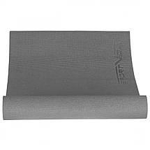 Килимок (мат) для йоги та фітнесу SportVida PVC 6 мм SV-HK0054 Grey, фото 3