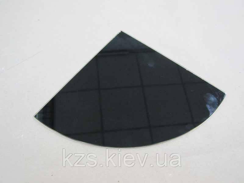 Полка радиусная из крашенного стекла толщиной 4 мм 250х250мм