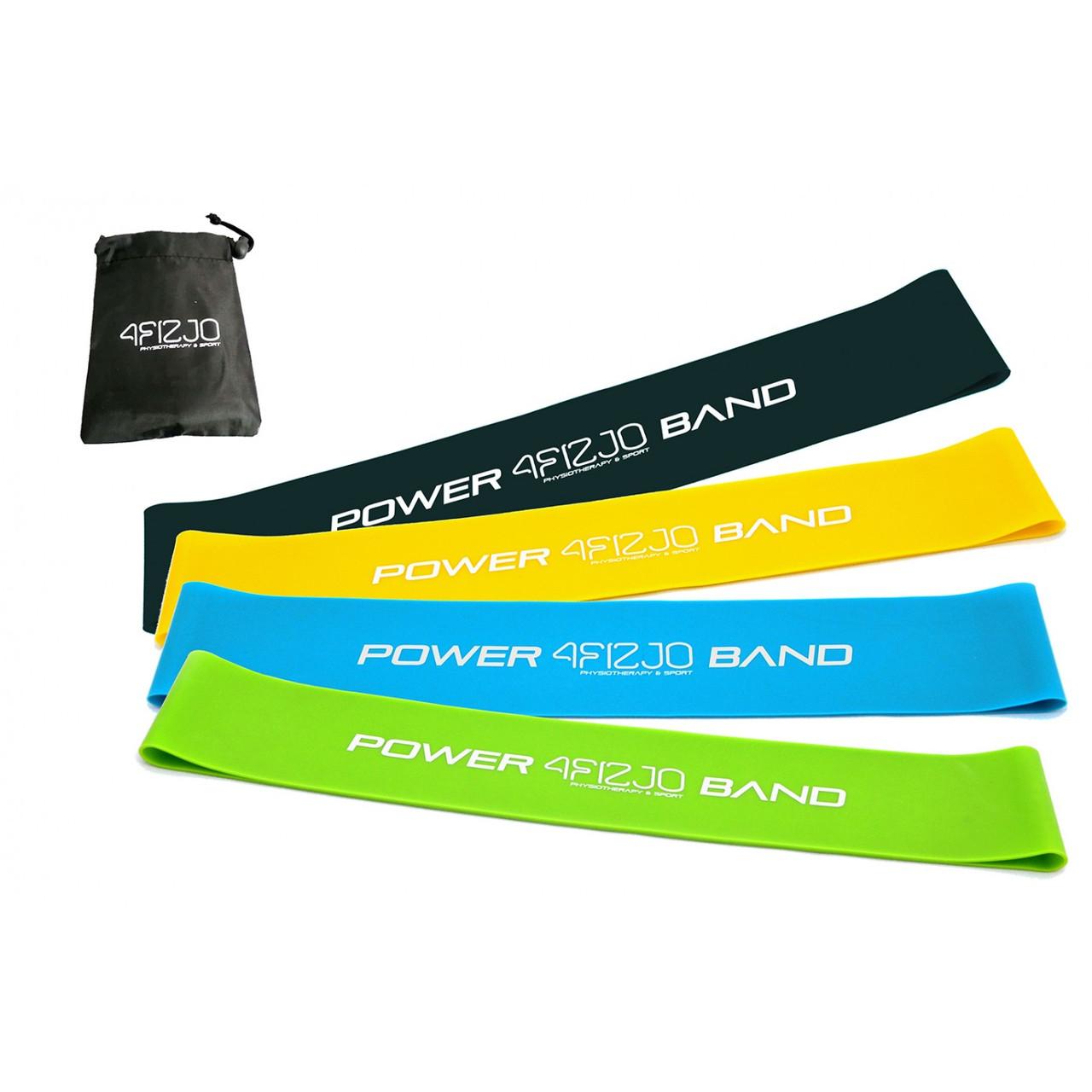 Гумка для фітнесу і спорту (стрічка-еспандер) 4FIZJO Mini Power Band 4 шт 1-20 кг 4FJ1042