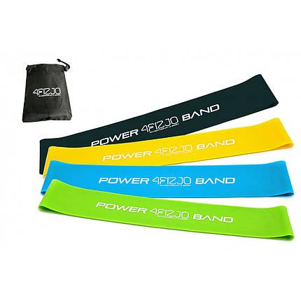Гумка для фітнесу і спорту (стрічка-еспандер) 4FIZJO Mini Power Band 4 шт 1-20 кг 4FJ1042, фото 2