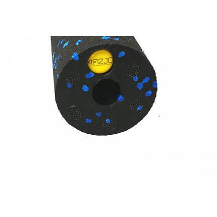Массажный ролик (валик, роллер) 4FIZJO Mini Foam Roller 15 x 5.3 см 4FJ0035 Black/Blue, фото 2