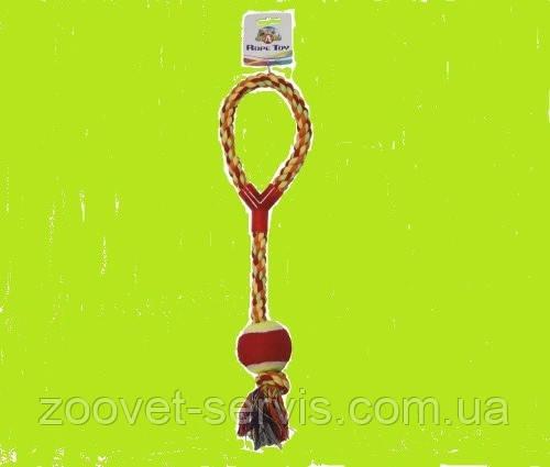 Игрушка для собак Croci канат грейфер с мячиком C6098316