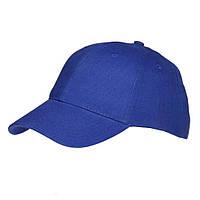 Хлопковая кепка бейсболка Sun Line, 6-ти панельная, синяя, под нанесение логотипа