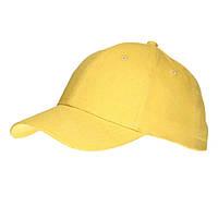 Бейсболка жёлтая, хлопковая, Комфорт-Сайд Sun Line, 6-ти панельная, промо-кепки недорого