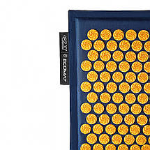 Килимок акупунктурний з подушкою 4FIZJO Eco Mat Аплікатор Кузнєцова 68 x 42 см 4FJ0229 Navy Blue/Orange, фото 2
