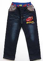 Теплые джинсы Cars для мальчика. 110, 140 см, фото 1