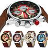 Часы мужские Curren California brown-silver-red, фото 4