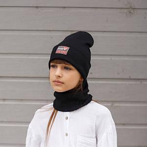 Комплект (шапка хомут) для дівчинки на весну-осінь оптом - Артикул 2930