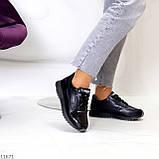 Женские кроссовки черные натуральная кожа, фото 3