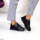 Женские кроссовки черные натуральная кожа, фото 4