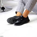 Женские кроссовки черные натуральная кожа, фото 5
