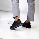 Женские кроссовки черные натуральная кожа, фото 6