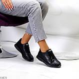 Женские кроссовки черные натуральная кожа, фото 7