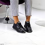 Женские кроссовки черные натуральная кожа, фото 8