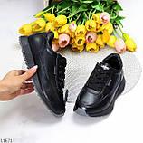 Женские кроссовки черные натуральная кожа, фото 2