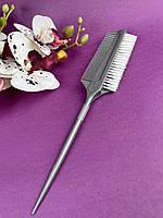 Кисть для окрашивания волос 009 с гребнем