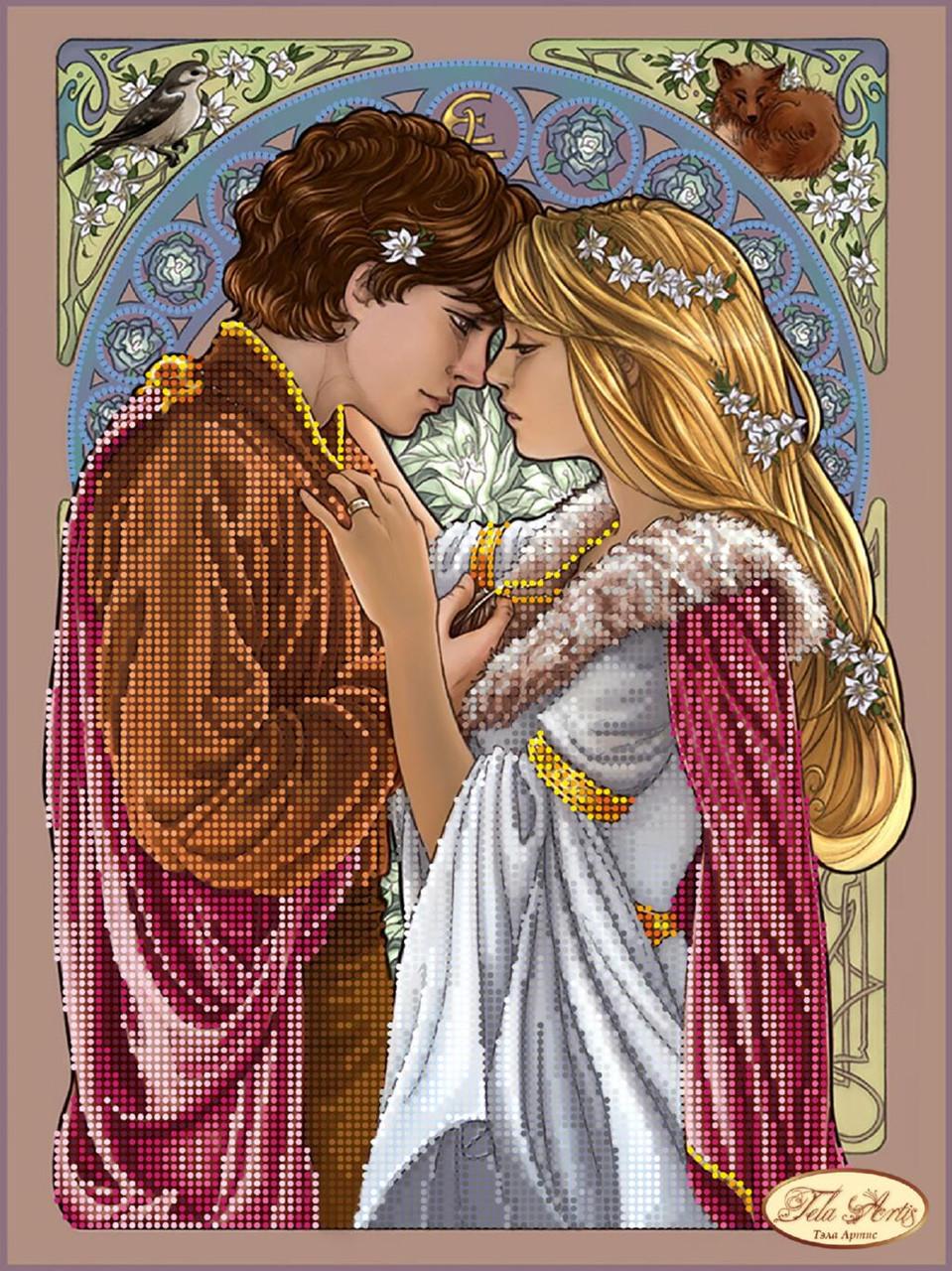 """Рисунок на ткани для вышивания бисером """"Ромео и Джульетта"""""""