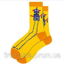 Носки MavkaSocks яркие и стильные Робот 1 пара
