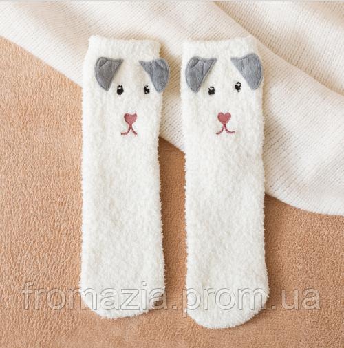 Носки MavkaSocks Пушистые Мишка белый1 пара