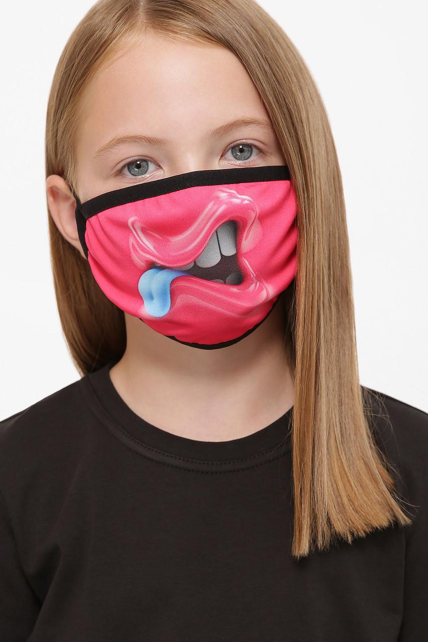 Защитная маска детская тканевая на резинке маска на подростка с принтом