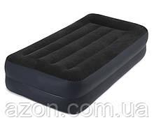 Надувне ліжко з вбудованим насосом Intex 64122 99х191х42см