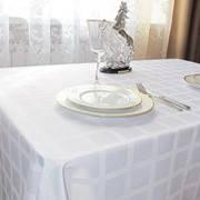 Скатерть 160/570  Журавинка рис.клетка Белый