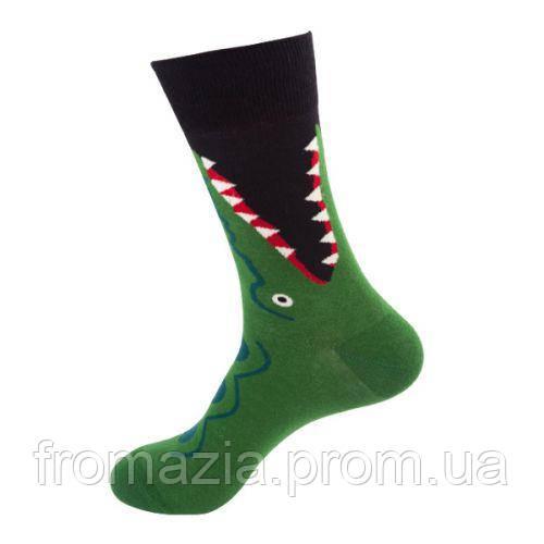 Носки MavkaSocks яркие и стильные Крокодил 1 пара