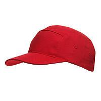 Кепка хлопковая, летняя с плотным козырьком от Sun Line, 5-ти панельная, красная, бейсболки под логотип