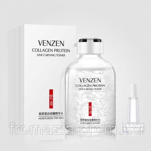 Сыворотка для лица антивозрастная тонер с коллагеном VENZEN  50мл