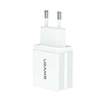 СЗУ USAMS US-CC090 T24 2.1 A Dual USB Travel Charger (EU)
