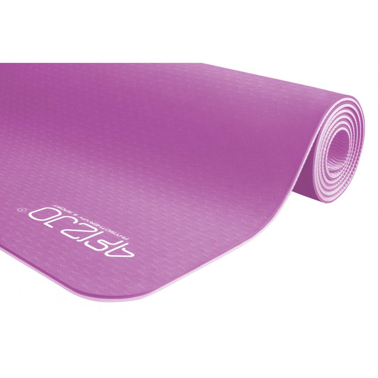 Коврик (мат) для йоги и фитнеса 4FIZJO TPE 6 мм 4FJ0143 Pink/Purple