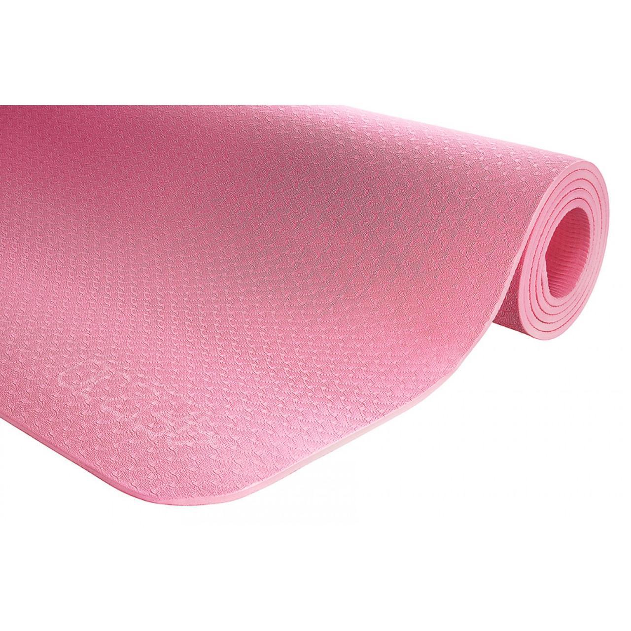 Килимок (мат) для йоги та фітнесу 4FIZJO TPE 6 мм 4FJ0152 Pink