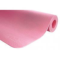 Килимок (мат) для йоги та фітнесу 4FIZJO TPE 6 мм 4FJ0152 Pink, фото 1