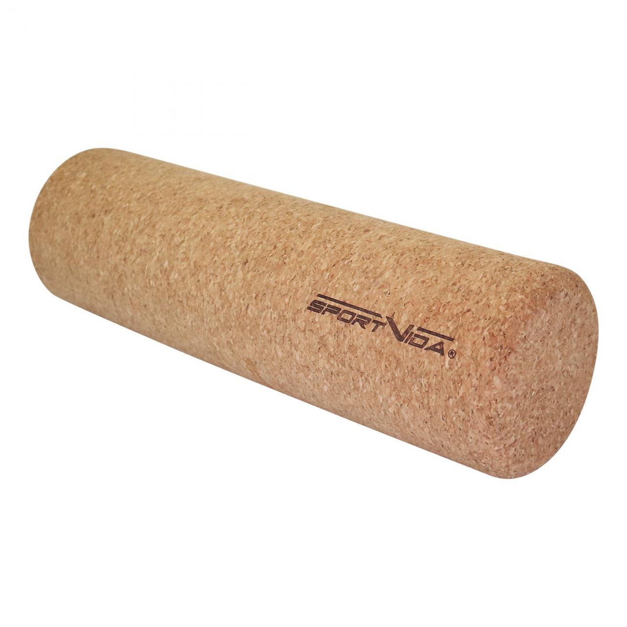 Масажний ролик (валик, роллер) з коркового дерева SportVida 33 x 10 см SV-HK0315