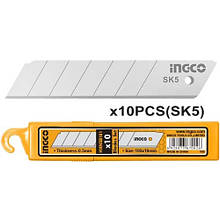 Леза для ножів сегментні 10 шт. INGCO