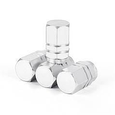 Ковпачки на ніпель Lesko 13-2C/191 16 х 10 mm Silver для авто шин металеві