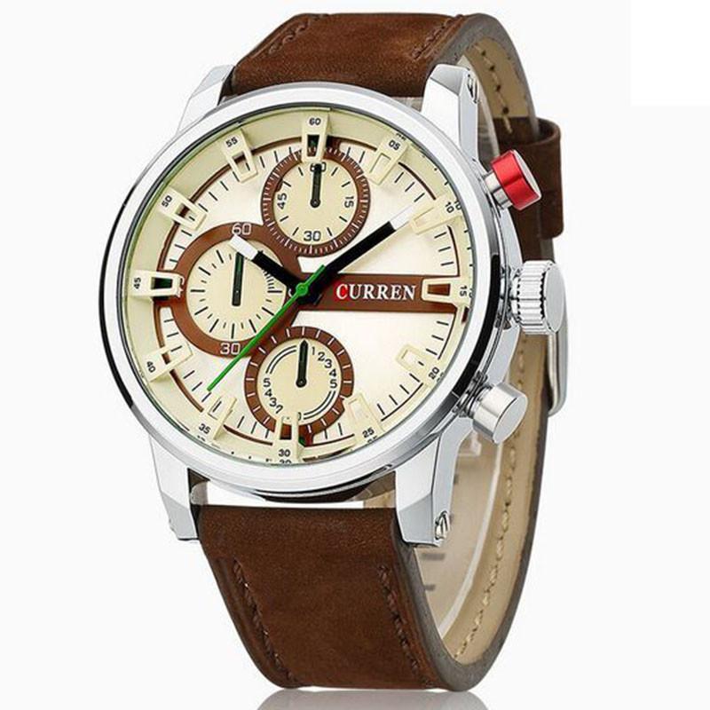 Часы мужские Curren California brown-silver-brown