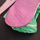 Многоразовые высокие чехлы на обувь водонепроницаемые защитные бахилы от дождя CHOICE Бирюзовый (НМ-19), фото 5